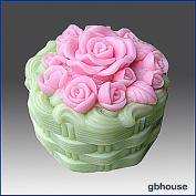 Rose Cake - Detail of High Relief Sculpture - Silicone Soap/polymer/clay/cold Porcelain Mould