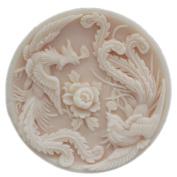 GRAINRAIN Silicone Mould Bird Phoenix Soap Moulds Soap Making Mould Resin Mould Handmade Soap Mould Diy Craft Art Moulds Flexible 1 pc