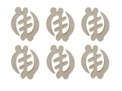 Gye Nyame Symbol Unfinished Wood African Adinkra Cut Outs 6pcs AFR-GYE06