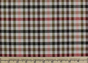 Western Cheque Plaid Suiting Fabric, Stretch Suiting Fabric-OLIVE/ROSE - 2 Yards Bolt
