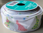 Easter Bunny Pattern Celebrate It 3.8cm . X 2.7m 100% Polyester Ribbon - Great for Easter!