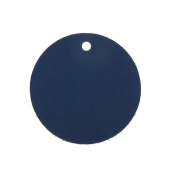 Blank 6.4cm Round Navy Blue Cardstock Gift Tags