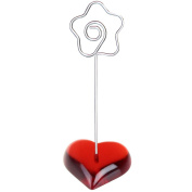 10 Pieces Rose Heart base wire memo photo note card desk