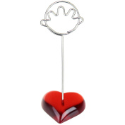 10 Pieces Hand Heart base wire memo photo note card desk
