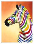 Colourful Zebra counted cross stitch, DMC thread , 14ct 42x52cm 174x232 Stith counted cross stitch kits
