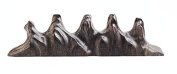 Easyou Classical Chinese Brush Rest Holder Black Catalpa Wood Carved Following by Original Shape 17*3.2*3.5cm