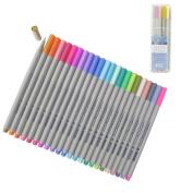 Yosoo 24Pcs 0.3MM Multi Colours Colourful Gel Ink Pen Sketch Drawing Pen Coloured Fineliner Pens Fine Point Markers Pen