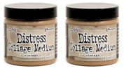 Ranger Tim Holtz Distress Collage Medium 110ml Jar - Vintage TDA47940 - Bundle of 2