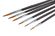 Professional Fine Paint Brushes Set - 6 Pieces Miniature Brushes for Liner Painting Brush Set