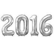 2016 Graduation 90cm Silver Mylar Balloons Party Decorations (4/pkg) Pkg/1