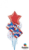 Qualatex USA Crystalgraphic 6pc Balloon Pack Red White Blue