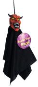 Shrunken Head Cloaked Demon 30cm Decoration Prop Red Black