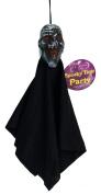 Shrunken Head Cloaked Zombie 30cm Decoration Prop Black Grey