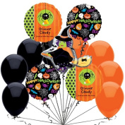 Veil Entertainment Witch On Broomstick Big Halloween 12pc Balloon Pack