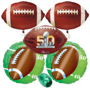 Super Bowl 50 2016 NFL Football Foil Mylar Balloon Party Decoration Pack 6pc