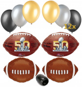 Super Bowl 50 2016 NFL Football Balloon Decorating Party Supply Pack 17pc