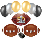 Super Bowl 50 2016 Football NFL Balloon Decorating Party Pack 10pc Starter Kit