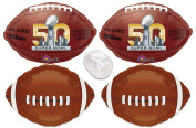 Super Bowl 50 2016 NFL Football Foil Balloons 4pc Party Decoration Starter Pack