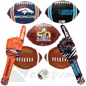 Broncos Panthers Super Bowl Face Off Ultimate Football Party 8pc Balloon Pack