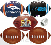 Broncos Panthers Superbowl Face Off Football Party Mylar 6pc Balloon Pack