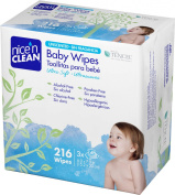Nice 'n Clean Unscented Baby Wipes, 216 Count