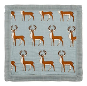 Milkbarn Mini Lovey Baby Blanket - Blue Buck