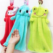 Beautymood 3pcs Cute Animal Microfiber Kids Children Cartoon Absorbent Hand Dry Towel Lovely Towel For Kitchen Bathroom Use