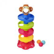AOLI 666-9 Swirl Ball Ramp Drop and Roll for Baby and Toddler of enlightening Roll the ball.