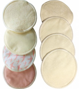 Nursing Pads Reusable-Made from Organic Bamboo-8 Pads (4 Pairs) Washable-Super Soft Against Your Skin-Clean And Pure-Best Baby Shower Gift.