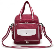 Hoxis Fresh Colour Multifunction 5 Ways Wear Nylon Baby Boom Backpack Nappy Bag