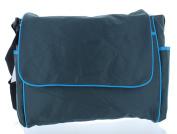 Baby Essentials Messenger Nappy Bag - Grey/Blue