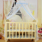 FUA® Baby Infant Bed Mosquito Mesh Dome Curtain Net for Toddler Crib Cot Canopy