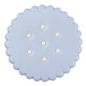 Meidus Cute Biscuit Contact Lens Case Simulating Cookie Cake Lenses Box blue