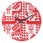 DENY Designs Vy La Robots and Triangles Round Clock, 30cm Round