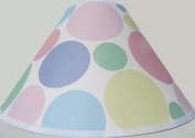 Pastel Polka Dot Lamp Shades / Polka Dot Nursery Decor