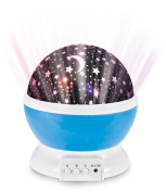 Sun And Star Lighting Lamp 4 LED Bead 360 Degree Romantic Room Rotating Cosmos Star Projector, Moon Sky Night Light