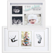(Set) Love At First Sight Sonogram Frame & Newborn Babyprints Picture Frame