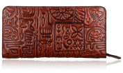 Pifuren Designer Genuine Leather Lady's Clutch Long Purse Leather Wallet PD68719