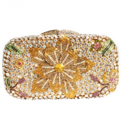 Digabi Bling Flower Pattern Women Crystal Evening Clutch Bags