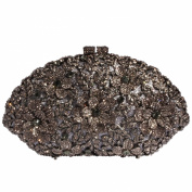 Digabi Flowers Shell Shape Women Crystal Evening Clutch Bags