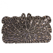 Digabi Water Flower Pattern Women Crystal Evening Clutch Bags
