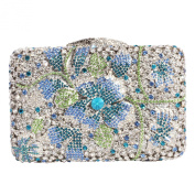 Digabi Flower and Leaves Pattern Women Crystal Evening Clutch Bags