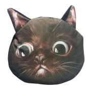 Fanci Women's Cuddly Coin Purse Fantastic Cat Head Face Key Case Holder Grenade Pouch Wallet Cover Outdoor Shopping Party Bag