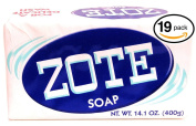 (PACK OF 19 BARS) Zote WHITE Laundry Bar Soap, with Even MORE Whitening Power & Satin Remover. Light Fresh Scent! Safe for delicate clothes!