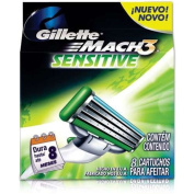 Gilletté Mach 3 Sensitive Razor Refill Cartridges 8-Count