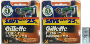 GlLLETTE Fusion Proglide Power Refill Cartridge Blades, 16 Count (2 Packs of 8) (Made in Germany) w/ Free Loving Care Trial Size Conditioner