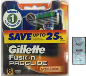 GlLLETTE Fusion Proglide Power Refill Cartridge Blades, 8 Count (Made in Germany) w/ Free Loving Care Trial Size Conditioner