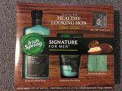 Irish Spring Gift Set of 4 Signature for Men Hydrating Body Wash , Hydrating Face Wash , Hydrating Soap : Bonus Flex 4 Razor