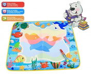 60*49cm 4 colours Water Drawing Toys Mat Aquadoodle Mat Magic Pen Water Drawing board baby play mat