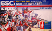 Esci Set 215 Napoleonic British Infantry Plastic Toy Soldiers in 1/72 scale